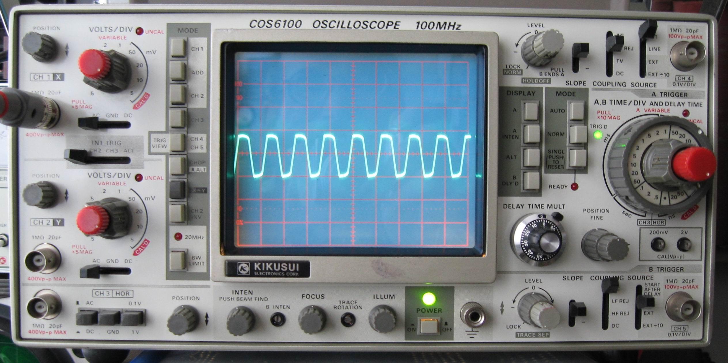 photo of waveform